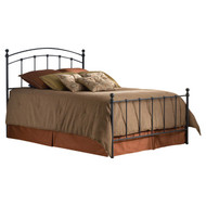 King size Matte Black Metal Bed with Headboard and Footboard KSMB264