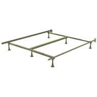 Queen size Sturdy Metal Bed Frame with 6 Glide Legs and Headboard Brackets QBF516981456