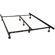 Queen size Heavy Duty 7-Leg Metal Bed Frame w/Locking Rug Roller Casters Wheels QHDB54198158