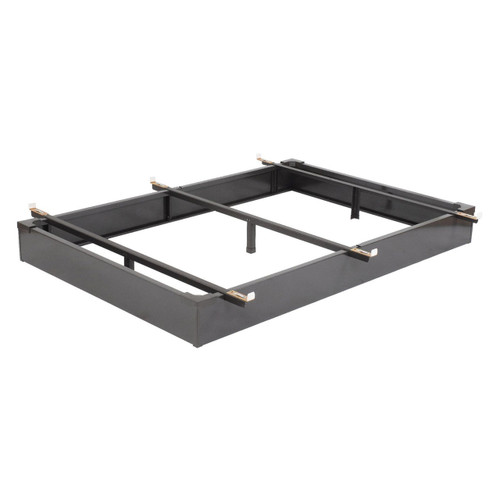 Twin size Hotel Style Metal Bed Base Frame with Flush-to-Floor Design TILMB1596814