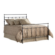 Twin size Ornate Metal Bed in Mahogany Gold Finish TWBMG207