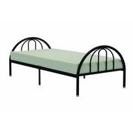 Twin Black Metal Platform Bed Frame with Arch Headboard & Footboard RFNHTB8988
