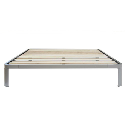 Full size Luna Metal Platform Bed Frame with Wooden Slats FLPB61518
