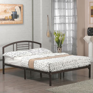 Queen size Contemporary Metal Platform Bed Frame with Headboard in Bronze Finish QMPBF51698451
