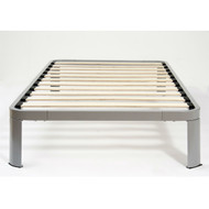 Twin Luna Metal Platform Bed Frame with Wood Slats TIMPBL104941