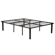 King size 2-in-1 Metal Platform Bed Frame in Black Steel HLKSBF200