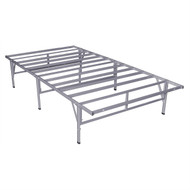 Full size Metal Platform Bed Frame in Grey Silver Finish FMP891547