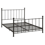 Full size Dark Bronze Metal Platform Bed with Headboard and Footboard ABMP193931