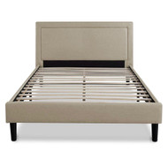 Queen size Taupe Upholstered Platform Bed with Headboard UPBFT51981