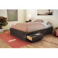 Full size Modern Storage Bed with 3 Drawers in Chocolate Finish CSPBF27150
