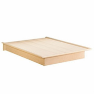 Queen Size Platform Bed Frame in Natural Maple Finish SSQNM15299