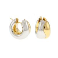 Herco Earrings 14KT Yellow Huggie Puff Earrings 14CIEA33Y