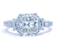 3.30 Cttw Cushion Cut Diamond Ring