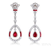 Ziva Antique Ruby Earrings