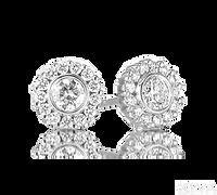 Ziva Bezel Set Diamond Studs with Halo