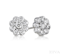 Ziva Flower Diamond Earrings