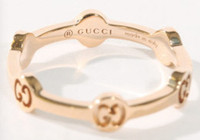 Gucci GG Love Ring Rose Gold Size 54