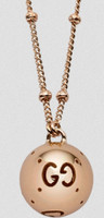 Gucci Bold Boule Necklace Rose Gold