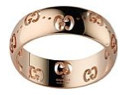Gucci Bold Ring Rose Gold Size 53