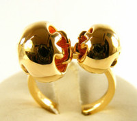 Gucci Boule Ring Gold Size 53