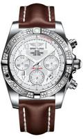 Breitling Chronomat 41 Steel Dia Bezel LeatherTang AB0140AA/A747
