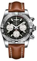 Breitling Chronomat 41 Steel Dia Bezel LeatherTang AB0140AA/BA52