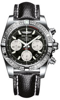Breitling Chronomat 41 Steel Dia Bezel Lizard Tang AB0140AA/BA52