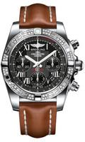 Breitling Chronomat 41 Steel Dia Bezel LeatherTang AB0140AA/BC04