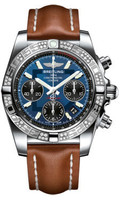 Breitling Chronomat 41 Steel Dia Bezel LeatherTang AB0140AA/C830