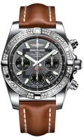 Breitling Chronomat 41 Steel Dia Bezel LeatherTang AB0140AA/F554