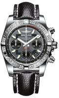 Breitling Chronomat 41 Steel Dia Bezel Lizard Tang AB0140AA/F554