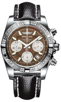 Breitling Chronomat 41 Steel Dia Bezel Lizard Tang AB0140AA/Q583