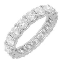 3.42ct 18k W/g Diamond Eternity Band Size 7