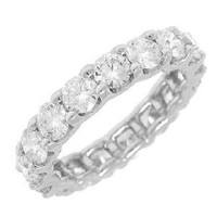 3.60ct 18k W/g Diamond Eternity Band Sz 6.25