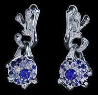 "Mousson Atelier Cosmos Collection Earrings ""UFO"" Sapphire 0.62 ct E0038-0/4"
