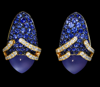 "Mousson Atelier New Age ""Fuji"" Gold Chalcedony Earrings E0053-0/1"