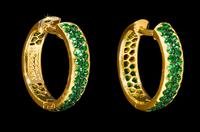 Mousson Atelier Dorojka Collection Gold Tsavorite Earrings E0102-0/1