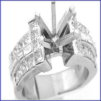 Gregorio 18K WG Diamond Engagement Ring H-543