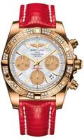 Breitling Chronomat 41 RG Dia Bezel Lizard Tang HB0140AA/A722