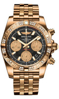 Breitling Chronomat 41 RG Dia Bezel Pilot Bracelet HB0140AA/BA53