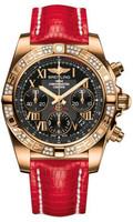 Breitling Chronomat 41 RG Dia Bezel Lizard Tang HB0140AA/BC08
