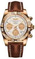 Breitling Chronomat 41 RG Dia Bezel Lizard Tang HB0140AA/G713