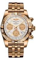 Breitling Chronomat 41 RG Dia Bezel Pilot Bracelet HB0140AA/G713