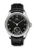 IWC Portuguese Manual Black Dial 8 Days SS Watch IW510202