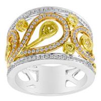 18K Tri-Color Diamond Ring KR4176WRY-18K
