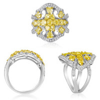 18K WG Yellow Diamond Ring NR493WY-18K