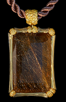 Mousson Atelier Wind Collection Gold Rutile Quartz Pendant P0036-0/5