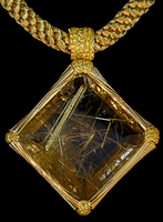 Mousson Atelier Wind Collection Gold Rutile Quartz Pendant P0036-0/7