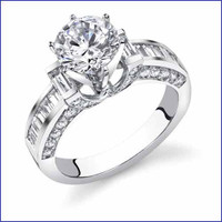 Gregorio 18K WG Diamond Engagement Ring R-107