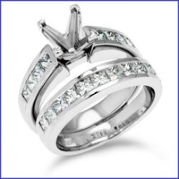 Gregorio 18K White Engagement Diamond Ring R-138